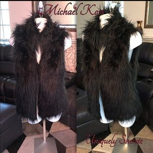 Michael Kors Fuzzy Vest